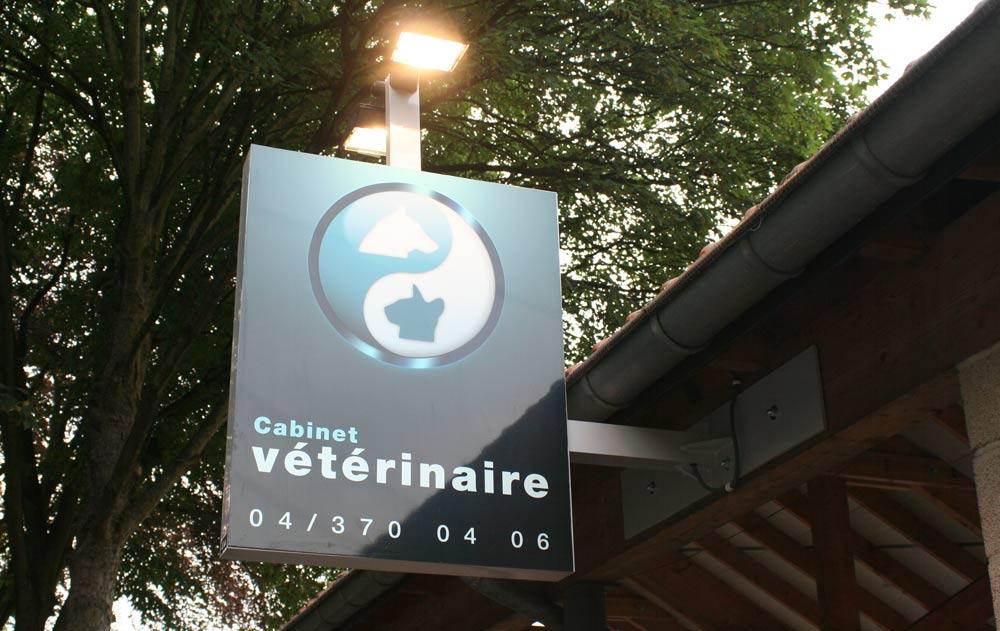 Enseigne cabinet vétérinaire Di Duca