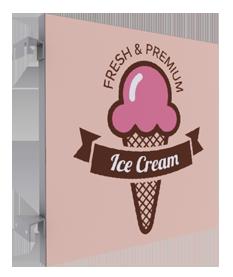 enseigne ICE CREAM