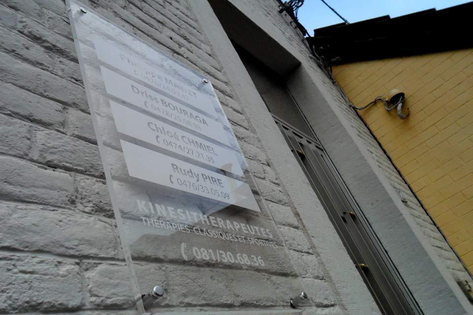 plaque commerciale