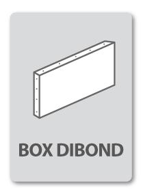 enseigne commerciale box dibond